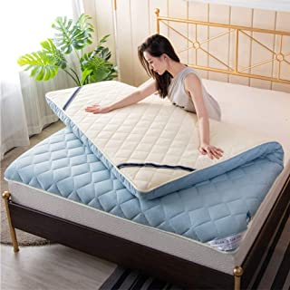 Colchón de tatami, 5 cm colchón portátil Comfort, colchoneta para dormir en la planta baja Colchoneta plegable Lazy Bed para dormitorio, oficina y dormitorio de estudiantes,C,120*200cm/47*79inch