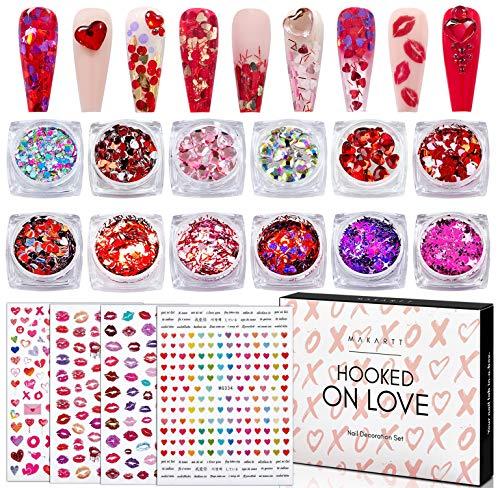 Makartt Nail Stickers Strasssteine Glitzersteine Glitters Rhinestones-Dekoration Nagel Kunst Design Set, Nail Art Decorations