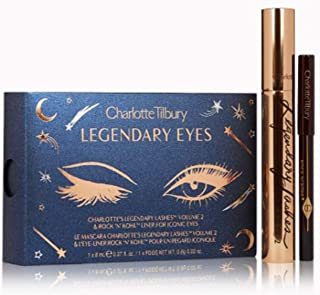 Charlotte Tilbury Legendary Eyes Eyeliner & Mascara Set! Black Waterproof Eyeliner Pencil For Sexy Smokey Eyes! Long-Wearing And Smudge-Proof Volumizig Mascara! Gluten-Free And Paraben-Free!