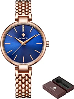 Women's Watches Ultra Thin Waterproof Quartz Watches Simple Stainless Steel Bracelet Ladies Watch