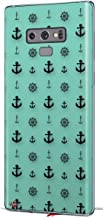 Decal Style Skin Wrap for Samsung Galaxy Note 9 Nautical Anchors Away 02 Seafoam Green