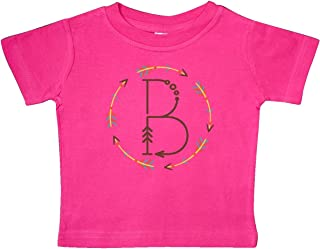 inktastic B Monogram Letter Tribal Wreath Baby T-Shirt