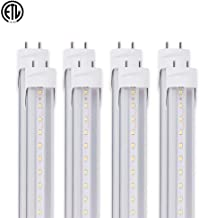 ONLYLUX T8 T8 T10 T12 LED Bulbs, 4ft LED Light Tube, G13 Base, 20W (40W Equivalent), 5000K (Daylight), Dual-end and Single-end Powered Available, Clear Lens, ETL-Listed (8 Pack)