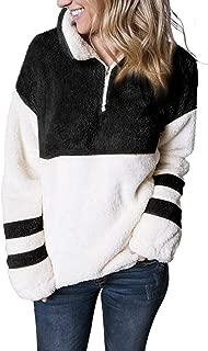 Womens Oversized Warm Double Fuzzy Hoodies Casual Loose Pullover Hooded Sweatshirt Outwear