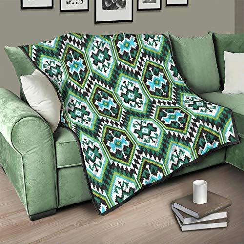 AXGM Colcha de Egipto India, diseño de maya, manta suave y cálida, para sofá blanco, 130 x 150 cm