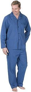Cargo Bay Men's Pyjamas Set Poplin Night Shirt Trousers Sleepwear PJs Plus Sizes