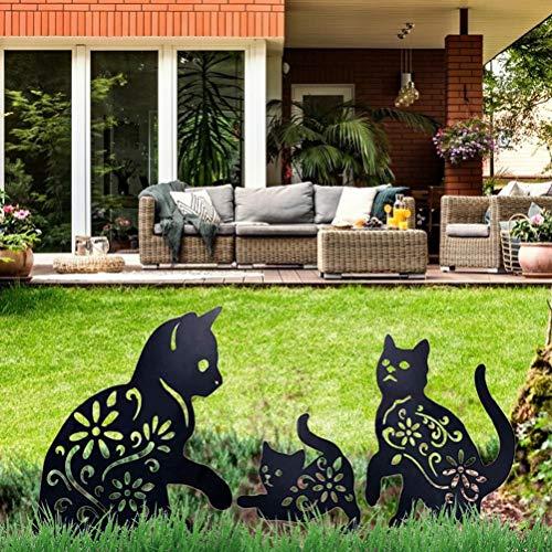 Cat Yard Art Jardin Statues Métalliques Déco, 3...