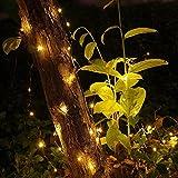 Solar Lichterkette Aussen, ECOWHO Warmweiß 22M 200 LEDs Kupferdraht lichterkette, 8 Modi IP65 Wasserdicht Solarlichterkette, Außen Lichterketten für Garten Weihnachten Deko - 5