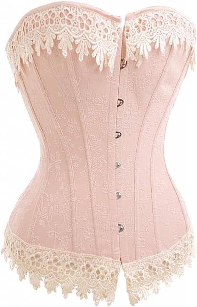 Alivila.Y low-pricing Fashion Womens Sexy Lace Atlanta Mall Bustier Brocade Corset Shapew