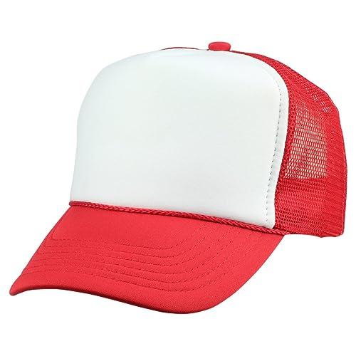 DALIX Youth Mesh Trucker Cap - Adjustable Hat (S 54ca841c58fe