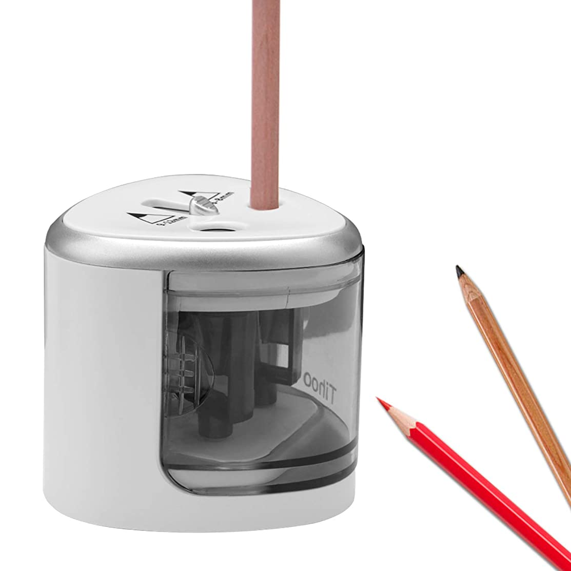 Zenic Electric Pencil Sharpener Automatic Pencil Cutter for Kids Adults Artist - Battery Operated, Safety for Kids, Portable for School, Office, Sketching from Nature