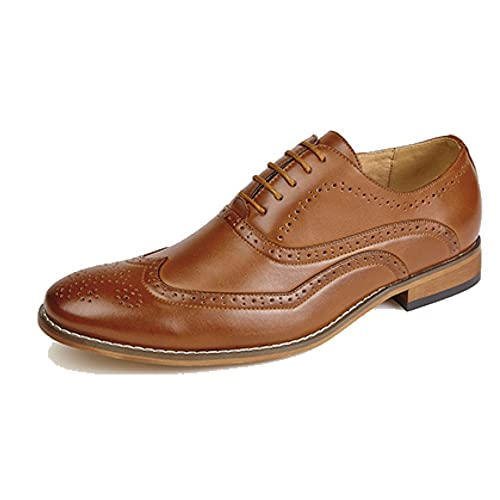 Goor Mens 5 Eyelet Brogue Oxford Shoe with Leather Lining