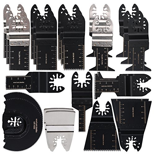 oxoxo Mix lating Saw Blades, Multi Tool Wood/Soft oscilaci¨n metal lating Multi Tool Quick Release Saw Blades, universaled Blade COMPATIBLES with Most oscilaci¨n of lating Tool 25Pcs
