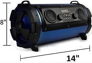 Large Powerful Portable Bluetooth Wireless Speaker. 20~30 Watt Big Loudspeaker. One of The Loudest Available with Peak of 100 Watt with Heavy Bass (Black & Blue)