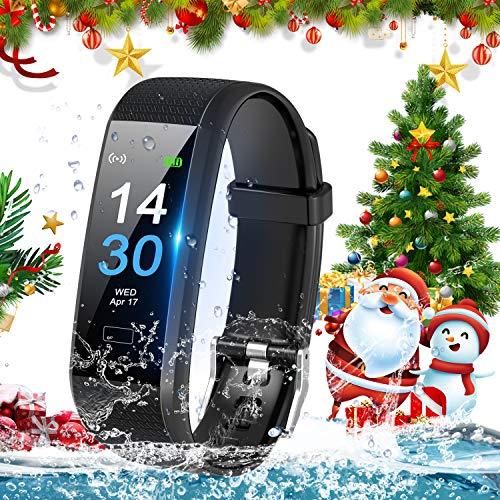 TOPLUS Fitness/Gesundheits Fitnessuhr Tracker Armband Smart Uhr Wasserdicht IP 68 Smartwatch Smartarmband für Aktivitätsmesser Kalorienverbrauch Pulsmesser Schrittzähler