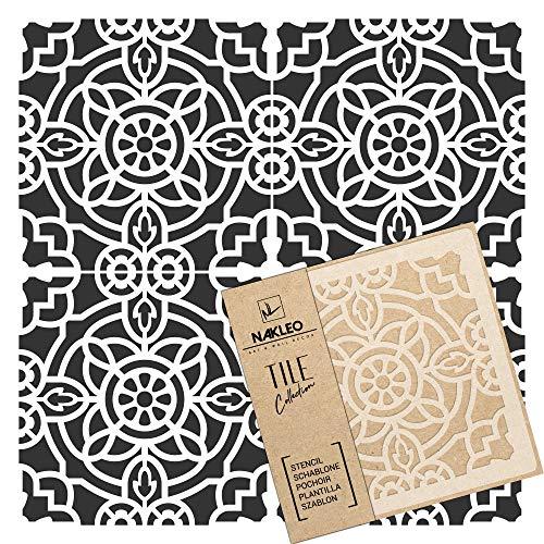 ZAIDA Wiederverwendbare Kunststoff-Schablone Fliese / / Marokkanische Geometrische / / Boden Wand (60x60cm)