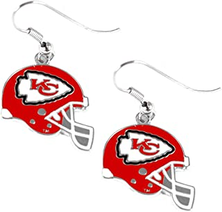 aminco NFL Womens NFL Sports Team J Hook Dangle Logo Earring Set