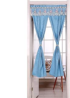 ZSDGY Open Type Thickened Blackout Curtain/Fitting Room Bathroom Bedroom Decorative Partition Curtain/Cotton and Linen Double Open Split Curtain A-100×120cm