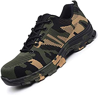 Steel Toe Work Shoes for Men Work Steel Toe Shoes Industrial Steel Toe Shoes for Women and Men Camo Steel-Toe Safety Sport...