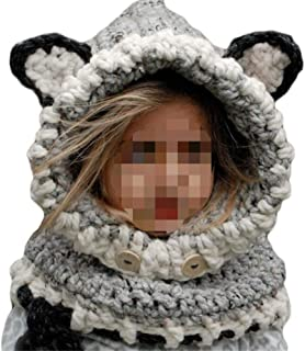 5cc0ea7484fa0 SevenPanda Enfants Baby Animal Fox Casquette Manteau Tricot Capuche Cagoule  Hiver laine tricotés chapeaux bébé des