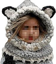 Adulte dhiver Balaclava R/échauffez Masque Facial en Tricot pour Les Sports De Plein Air WDLY 4Pack Tricot/ée 3 Trou Visage Masque De Ski