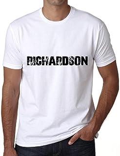 ULTRABASIC ® Proud Family Last Name Men's T-Shirt Surname Gift Ideas Tee RICHARDSON White