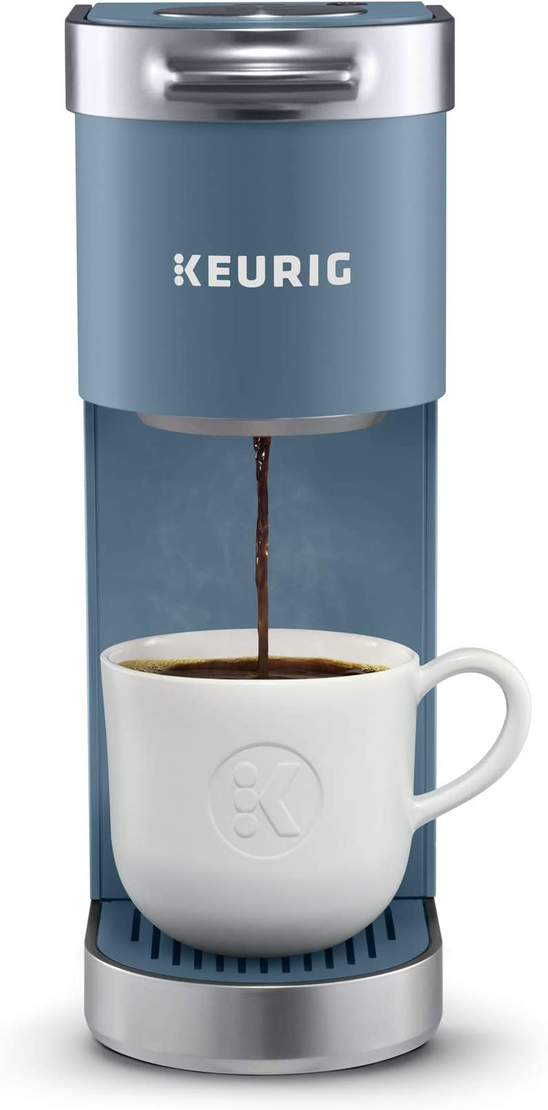 Keurig K-Mini Plus Coffee Maker, Single Serve K-Cup Pod Coffee Brewer, Comes With 6 to12 Oz Brew Size, K-Cup Pod Storage, and Travel Mug Friendly, Evening Teal