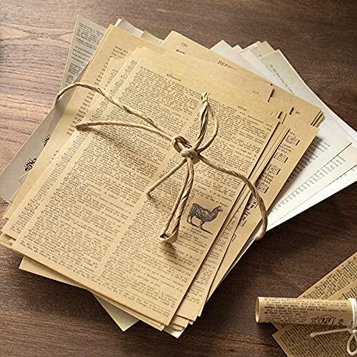 114 hojas (marrón + blanco) antiguas cartas de grabación medievales poemas de partitura musicales para scrapbooking Deco tarjeta de hacer diy