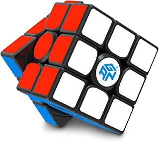 GAN 356 Air SM, Magnetic Speed Cube 3x3 Gans Magic Cube Black Stickered 3x3x3 Puzzle Toy (2019 Version)