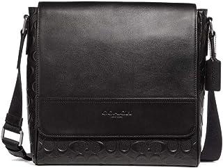 Coach Signature Leather Houston Map Messenger Bag - #F73340 - Black