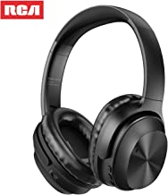 Active Noise Canceling Headphones, RCA Bluetooth 5.0 Headphones Over Ear Wireless Headphones with Mic, Foldable Soft Protein Earpads, 25Hrs Playtime for Travel Work TV PC Cellphone(Black)