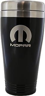 Mopar Parts Black Stainless Steel Travel Mug Tumbler