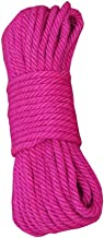Rose Red Jute Rope - 4MM(49 Feet) for DIY Crafts, Festive Decoration, Gardening