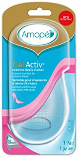 Amope GelActiv Extreme Heels Insoles for Women, 1 pair, Size 5-10