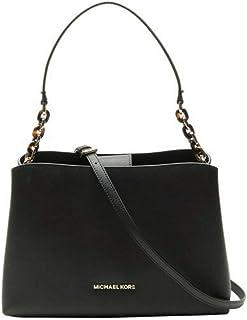 Michael Kors Sofia Large East West Saffiano Leather Satchel Crossbody Bag in Black