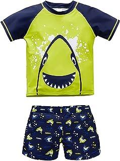 ست لباس شنا 2 پارچه Rash Guard پسرانه Toddler