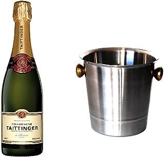 Taittinger Champagner Brut Réserve im Champagner Kühler 12% 0,75l Flasche