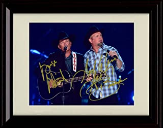 Framed Garth Brooks and George Strait Autograph Replica Print