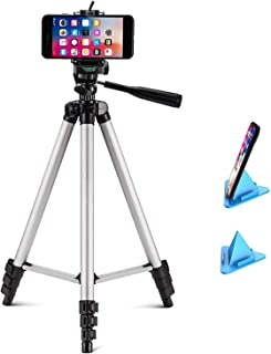 SUBTON Tripod Camera and Mobile Phone Stand 41 Inches with 360 Degree Horizontal & Vertical Rotation, Mobile Holder Mount ...