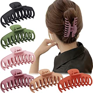 Winrase 4 Inch Large Non-slip Hair Claw Clip Strong Hold Hair Clips Perfect for Women and Girls Thick Hair, Big Hair Claw ...