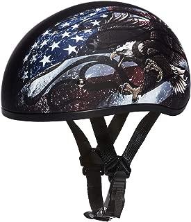 Daytona Helmets Motorcycle Half Helmet Skull Cap- USA 100% DOT Approved