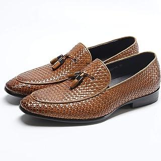 413d8279 Jeff-chy Mocasines Casuales de Cuero Genuino de Primera Calidad Mocasines  Transpirables Zapatos de conducción