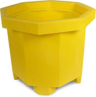 UltraTech 1041 Polyethylene Pallet Jack Ultra-Spill Collector Without Drain, 66 Gallon Capacity, 5 Year Warranty, Yellow