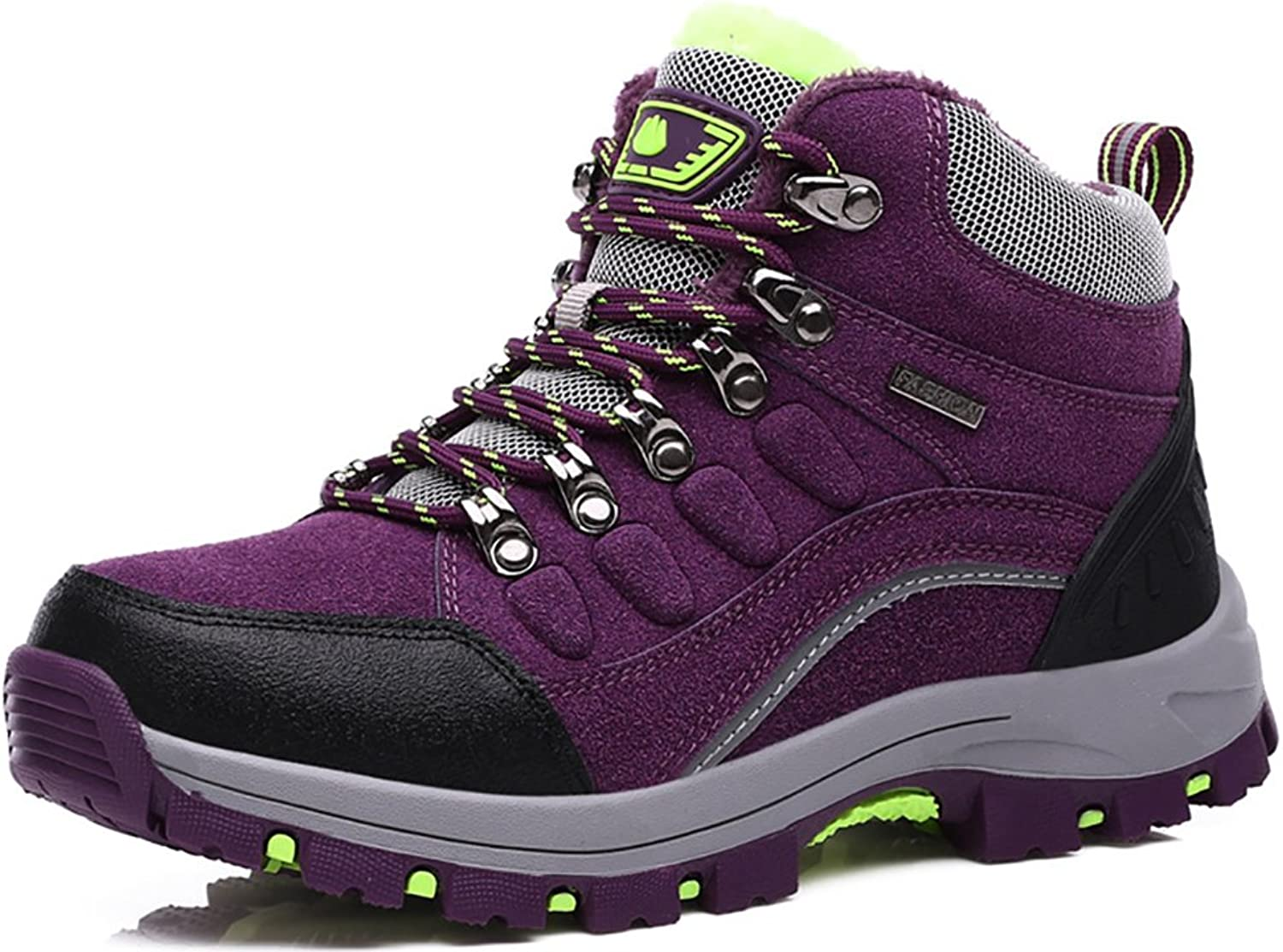 Odema Womens Snow Boots Fur Winter Hiking shoes Outdoor High Top Sneakers