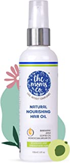 The Moms Co. Natural Nourishing Hair Oil | Enriched with Tea Tree oil, Moroccan Argan Oil and Amla Oil and Vitamin E (100 ml)