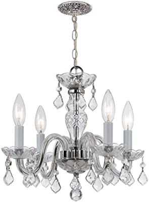 Crystorama 1064-CH-CL-I Traditional Crystal - Four Light Mini Chandelier, Crystal Style Options: Clear Italian