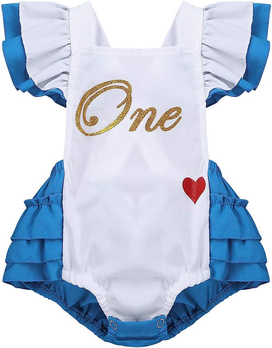 CHICTRY Wonderland Award Baby Girls' Soldering Romper Birthday First Princess Cr