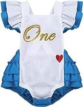 CHICTRY Wonderland Baby Girls' Romper First Birthday Princess Cross-Back Tutu Ruffles Dresses Costumes