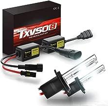 TXVSO Más nuevo Mini 12V 55W Xenon HID Kit de conversión Faros delanteros para reemplazo de vehículo de automóvil Juego de bombillas halógenas, H7/6000K Diamante blanco