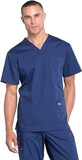 Cherokee Workwear Professionals Men's V-Neck Scrub Top, XL, Navy